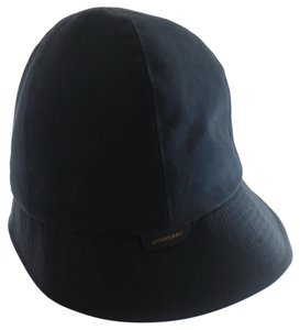 Burberry BURBERRY Gabrielle Black Cotton Nova Check Lining Bucket Hat ITALY