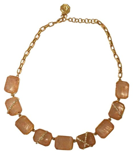 Preload https://img-static.tradesy.com/item/20223767/louise-et-cie-gold-peach-caged-stone-link-necklace-0-2-540-540.jpg