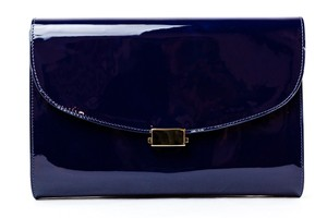 Mansur Gavriel Patent Leather Navy Clutch