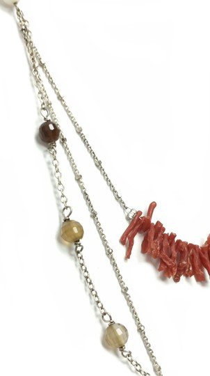Kinley Sterling silver Multi Strand Kinley Necklace in Coral and Sandstone Image 5