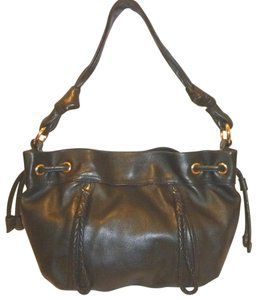 B. Makowsky Refurbished Leather Lined Hobo Bag
