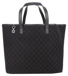 Gucci Gg Jacquard Tote in Dark Brown