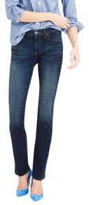 J.Crew Petite Short Dark Wash Straight Leg Jeans-Dark Rinse