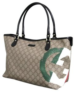 Gucci Handbag Italian Flag Tote in Guccissima
