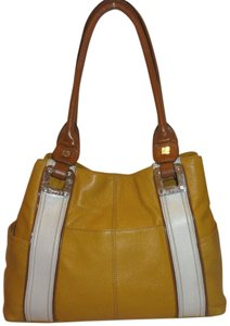 Tignanello Refurbished Yellow Leather X-lg Lined Hobo Bag