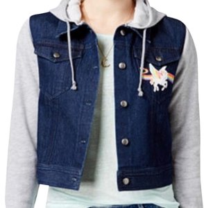 XOXO Blue and gray Womens Jean Jacket