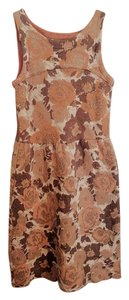 Anthropologie Floral Wool Tea Length Holiday Dress