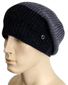 Gucci Gucci Wool Beanie Hat w/Interclocking G w/Tag Gray/ Black 310777 1262
