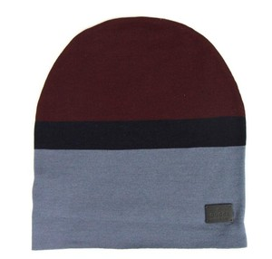Gucci New Gucci Burgundy Blue Wool Beanie Hat w/Logo Size L 353999 6068
