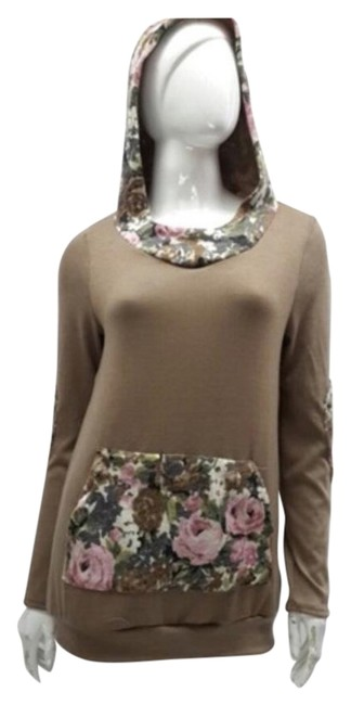 Preload https://img-static.tradesy.com/item/20224168/brown-and-floral-last-one-pocket-elbow-patch-knit-sweatshirthoodie-size-4-s-0-1-650-650.jpg