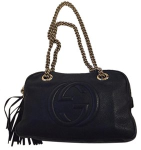 Gucci Leather Handbag Chains Soho Shoulder Bag