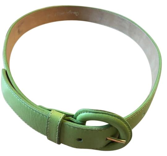 Other FUNKY GREEN LEATHER BELT WITH SAME COLOR BELT MADE IN U.S.A.