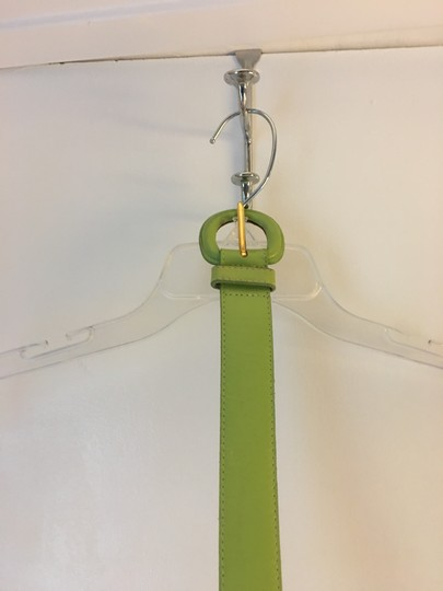 Other FUNKY GREEN LEATHER BELT WITH SAME COLOR BELT MADE IN U.S.A. Image 1