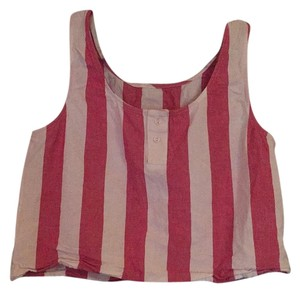 American Apparel Top Pink, white