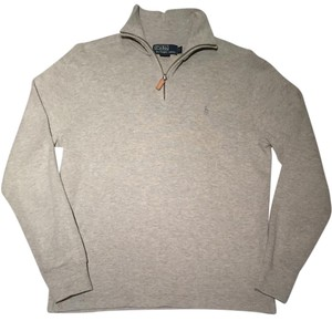 Ralph Lauren Mens 1/4 Zip Grey Pullover Jacket