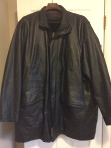 Phase Two-size 4XLT Mens Leather Trench Coat