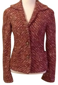 Marc Jacobs 7% Polyester 67% Wool 14% Acrylic 4% Rayon Dry-clean Only pink green cream red gray black Blazer