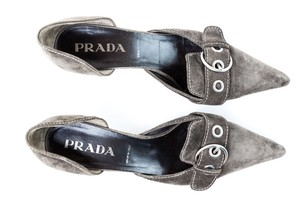 Prada Heels D'orsay Suede Brown Pumps