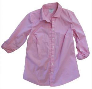 J.Crew Blouse Work Attire Casual Pink Button Down Shirt Light Pink