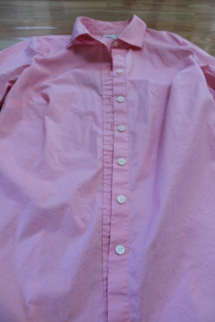 J.Crew Blouse Work Attire Casual Button Down Shirt Light Pink