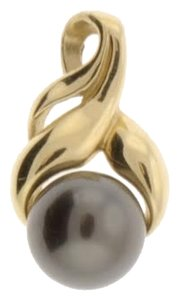 Other Gorgeous wholesale 14k Yellow gold and 10 mm black pearl pendant