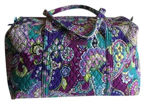 Vera Bradley Purple Cotton Floral Heather Travel Bag