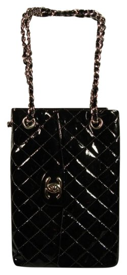 254dd885a8e7 Chanel 2.55 Reissue Quitled Sideways Flap Tote Black Patent Leather ...