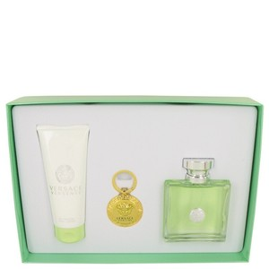 Versace Gift Set - 3.4 oz Eau De Toilette Spray + 3.4 oz Body Lotion + Versace Key Chain.