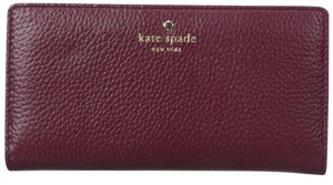 Kate Spade Cobble Hill Leather Stacy Wallet Merlot