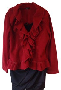 Magaschoini Boiled Wool Jacket Red Blazer