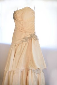 Maggie Sottero Tiered Ivory Wedding Gown (modified High Low) Wedding Dress