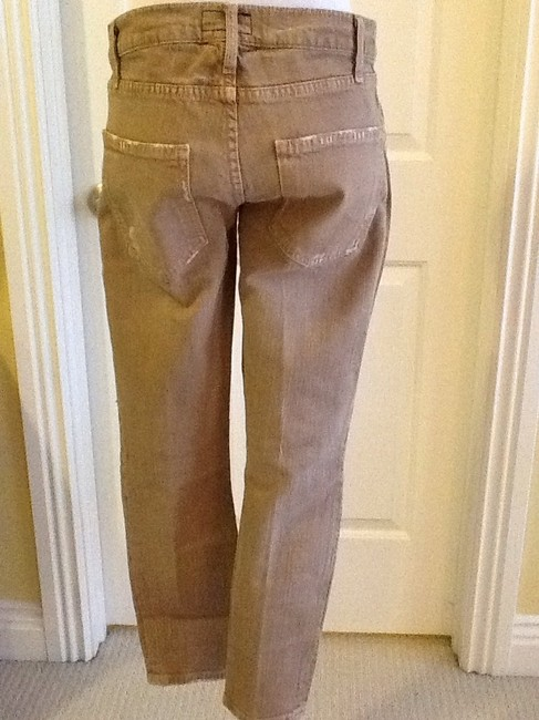 Current/Elliott Cotton Machine Washable Made In Usa Skinny Jeans-Light Wash Image 5