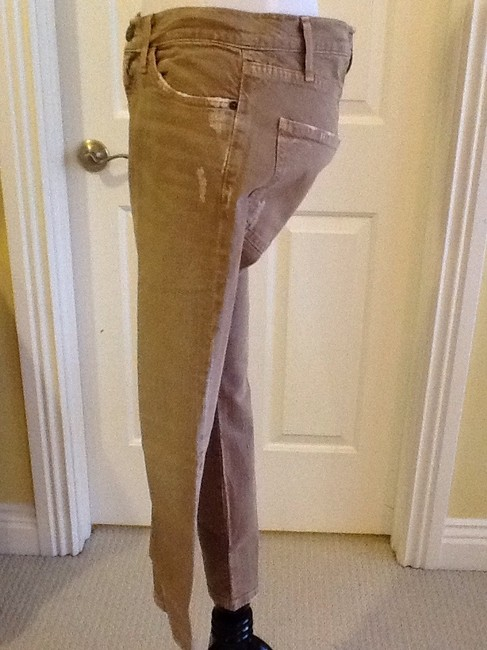 Current/Elliott Cotton Machine Washable Made In Usa Skinny Jeans-Light Wash Image 8