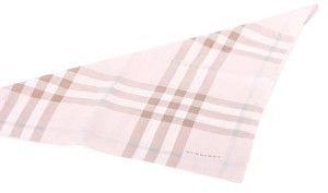 Burberry London BURBERRY PINK CHECKERS SILK SQUARE