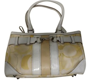 Coach Tote in Yellow and off white