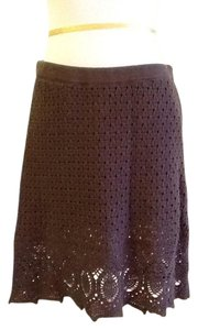 Athleta 100% Machine Washable Made In California Lining Skirt dark brown