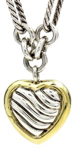 David Yurman Cable Classics Heart Toggle Necklace in 18k Gold and Sterling Silver