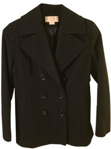 Michael Kors Black Pea Kors Pea Black Jacket Coat