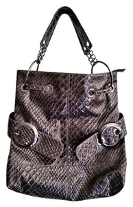 Big Buddha Snakeskin Faux Patent Hobo Bag