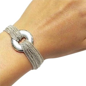 Tiffany & Co. Multi Strand Sterling Silver Round Toggle Mesh Collection With Toggle Bracelet By Tiffany And Company