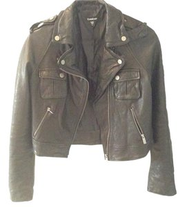 bebe Leather Moto Motorcycle Jacket