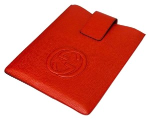 Gucci Gucci Red Leather Soho GG iPad case