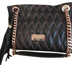 Mario Valentino Spa Satchel in Black And Rose