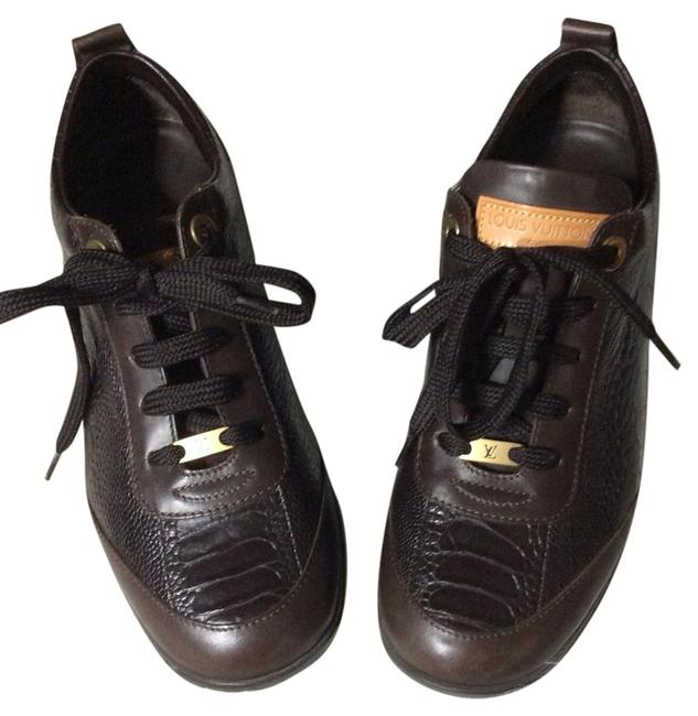 Item - Brown Lace Up Sneakers Size US 6.5 Regular (M, B)