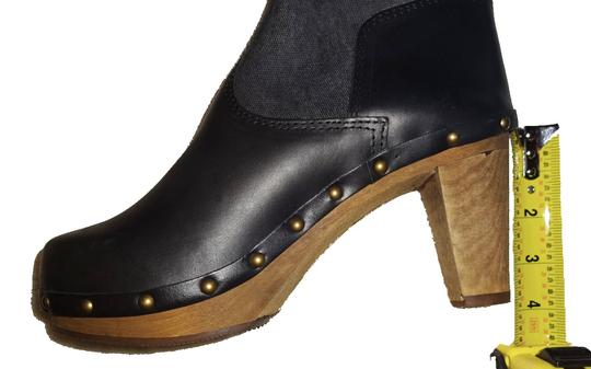 Anthropologie Chic Clogs Inner Platform Clogs Pull On Clogs Canvas Leather Clogs Handmade Clogs Smoke Boots Image 5