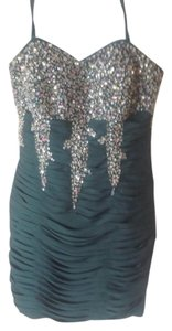 Sequin Ruched Dress