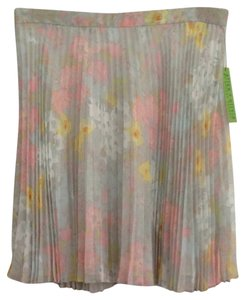 Alice + Olivia Skirt Pale Pink And Blue