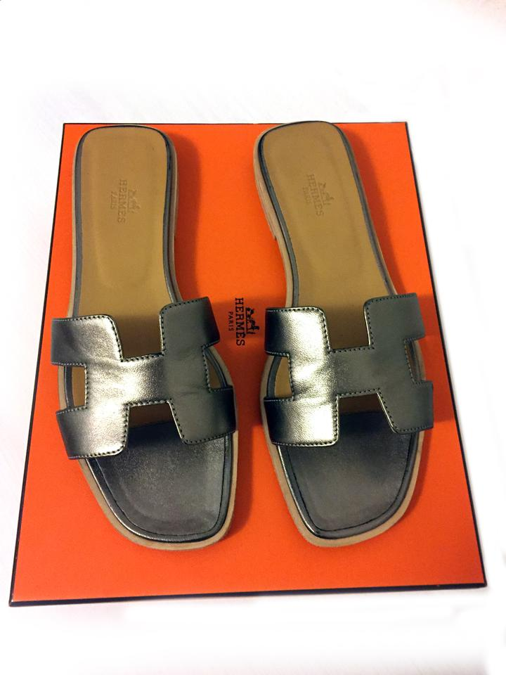 Hermès Oran Metallic Bronze Limited Edition Oran Hermès Sandals ed7662