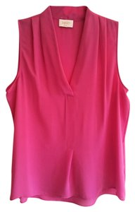 Laundry by Shelli Segal V-neck Office Date Night Night Out Sleeveless Top Pink