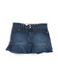 Old Navy Jean Stretch Medium Wash Junior Mini Skirt Blue denim